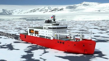 The vessel will be capable of operating in icy waters, navigating continuously at a constant speed of 3 knots over a 500 kPa flexural strength ice of 1 metre thickness and covered with a 20 centimetre layer of snow.
