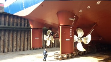 The maintenance was done at shipyard Dales Marine Services Ltd