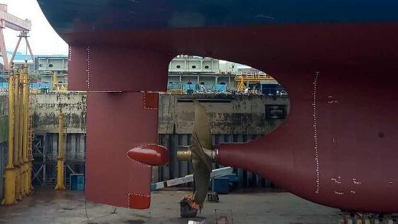 ATLANTIC Rudder mounted on 20k TEU