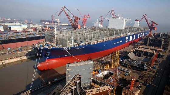 After installation rudder for CMA CGM