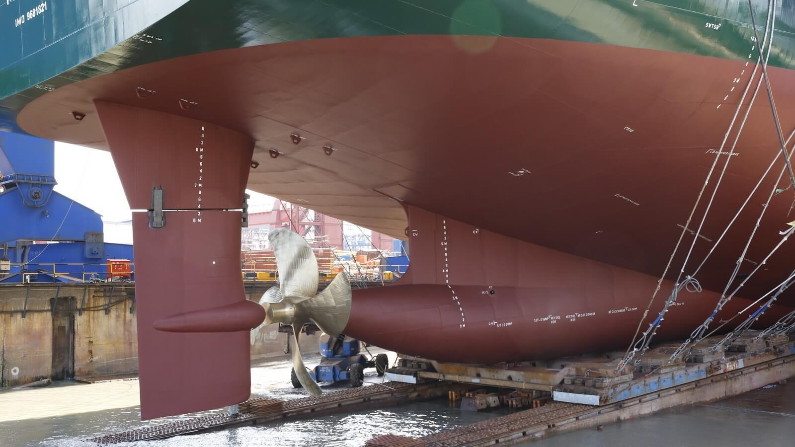 ESPAC rudder is well adapted to the propeller's slipstream and so reduces energy losses