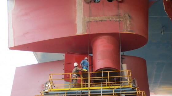 Rudder maintenance