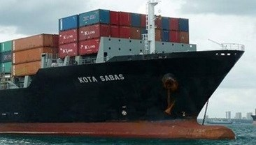 Kota Sabas container ship